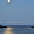 Moon Over Lighthouse by Donald Mac Fadyen