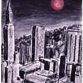 Moon Over Manhattan by Gary Jameson
