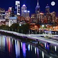 Moon Over Philly by Skyline Photos of America