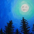 Moon Over Pines by Emily Page