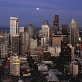 Moon Over Seattle by David Lee Thompson