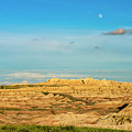 Moon Over The Badlands by Andy Crawford