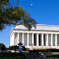 Moon Over The Lincoln Memorial  by Don Allen