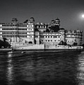 Moon Over Udaipur Bw by Steve Harrington