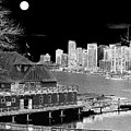 Moon Over Vancouver by Will Borden