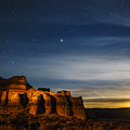 Moon Rise At Pillars Of Rome, Oregon, Usa by Vishwanath Bhat