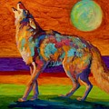 Moon Talk - Coyote by Marion Rose
