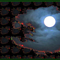 Moon Through Clouds  Photography With Graphic Flavour Created By Navinjoshi At Fineartamerica.co by Navin Joshi