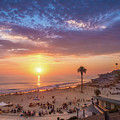 Moonlight Beach Sunset by Shuwen Wu