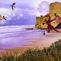 Moonlight Dragon Attack by Diane Schuster