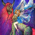 Moonlight Fairy And Her Horned Horse by Sofia Metal Queen