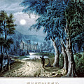 Moonlight In The Ruins by Currier and Ives - Joy of Life Art