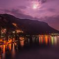 Moonlight In Varenna Italy by Brenda Jacobs