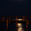 Moonlight On Water by Clayton Bruster
