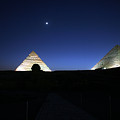 Moonlight Over 3 Pyramids by Donna Corless