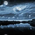 Moonlight Over A Lake by Jaroslaw Grudzinski