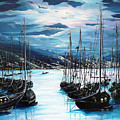 Moonlight Over Port Of Spain by Karin  Dawn Kelshall- Best