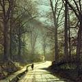Moonlight Walk by John Atkinson Grimshaw