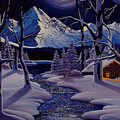 Moonlit Cabin by Mark Regni