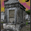 Moonlit Cemetary by Linda Kish