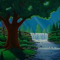 Moonlit Falls by Mark Regni