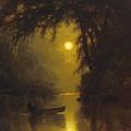 Moonlit Landscape by Arthur Parton