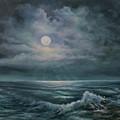 Moonlit Seascape by Katalin Luczay