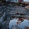 Moonlit Reflection Of Pemaquid Light, New Harbor, Me #8118-21 by John Bald