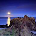 Moonrise Dunnottar Castle Aberdeenshire Scotland by Angus Clyne