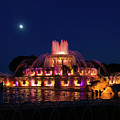 Moonrise Over Buckingham Fountain by Jemmy Archer