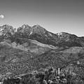 Moonrise Over Four Peaks by Rick Furmanek