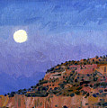 Moonrise Over Gallup by Donald Maier