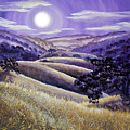 Moonrise Over Monte Bello by Laura Iverson