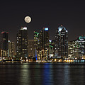 Moonrise Over San Diego by Sandra Bronstein