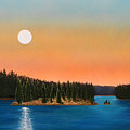 Moonrise Over The Lake by Frank Wilson