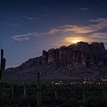 Moonrise Over The Superstitions by Saija Lehtonen
