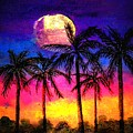 Moonrise Over The Tropics by Dina Sierra