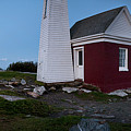 Moonrise Panorama, Pemaquid Point Light #8123-8137 by John Bald