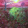 Moonrise Poppies by Ronnie Egerton