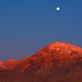 Moonset At Dawn Above Mount Tom - Eastern Sierra California by Ram Vasudev