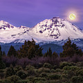 Moonset At Dawn by S A Littau