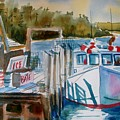 Moored Fishing Boat by Linda Emerson
