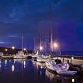 Moored Sailboats by Steve Gadomski
