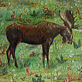 Moose Tapestry by Theresa LaBrecque