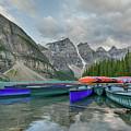 Moraine Lake Canoe Water Line View by Paul Quinn
