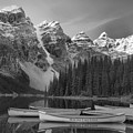 Moraine Lake In Black And White by Adam Jewell