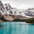 Moraine Lake In The Clouds by Pierre Leclerc Photography