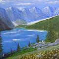 Moraine Lake, 16x20, Oil, '07 by Lac Buffamonti
