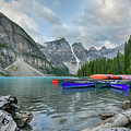 Moraine Logs And Canoes by Paul Quinn