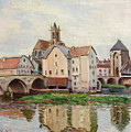 Moret-sur-loing. Morning by Alfred Sisley
